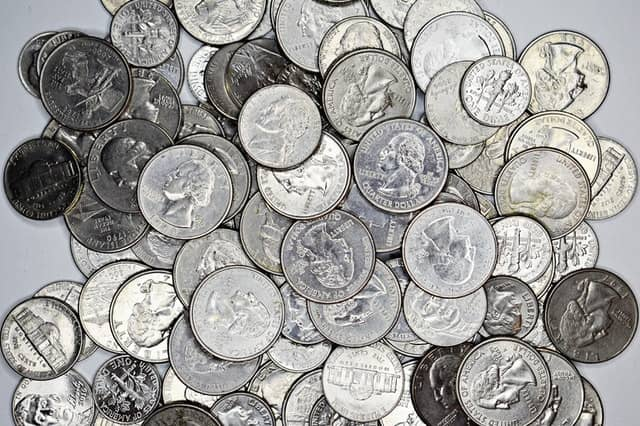 How many dollars are there in 182 quarters?